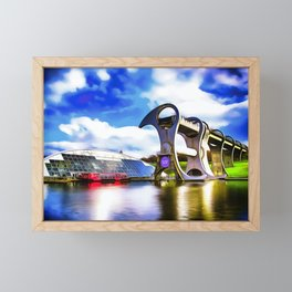 The Falkirk Wheel (Painting) Framed Mini Art Print