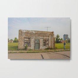 Stone Building, Regan, North Dakota 1 Metal Print