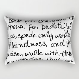Audrey Hepburn Quote Rectangular Pillow