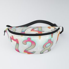 Numbers! white Fanny Pack