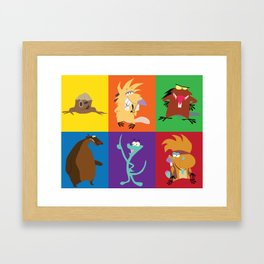 angry beavers characters Framed Art Print