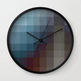 Geometric Earth Tones Wall Clock