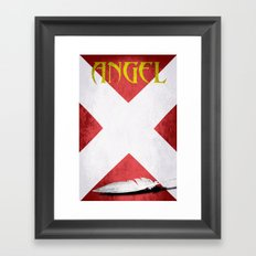 X-Man Angel Framed Art Print