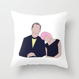Bill & Scarlett Throw Pillow