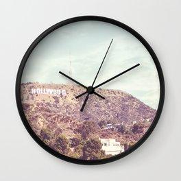 Hollywood Sign Wall Clock