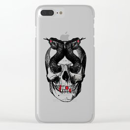 """""""Snakes eyes"""". Clear iPhone Case"""