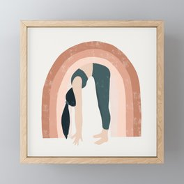 a good start Framed Mini Art Print