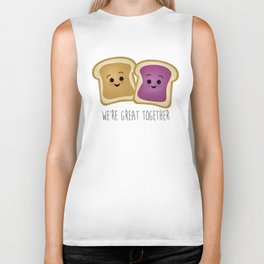 We're Great Together - Peanut Butter & Jelly Biker Tank