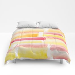 12   | 190301 Watercolour Painting Abstract Pattern Yellow Pink Comforters