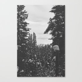be still like the mountains Canvas Print