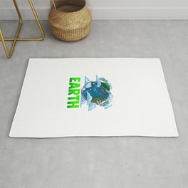 Love The Earth Hipster Cute Hippie Mother Earth Rug