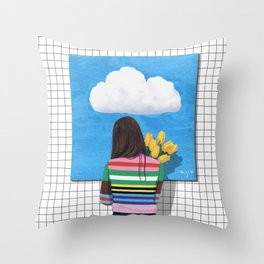 Spring Rain_ver1 Throw Pillow