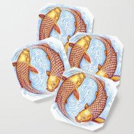 Pisces Fish Yin Yang Mandala Coaster