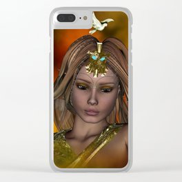 Beautiful fantasy women Clear iPhone Case
