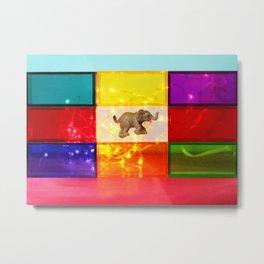 Floating Elephant Metal Print
