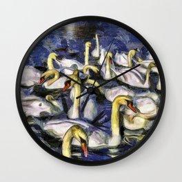 Swans Vincent Van Gogh Wall Clock