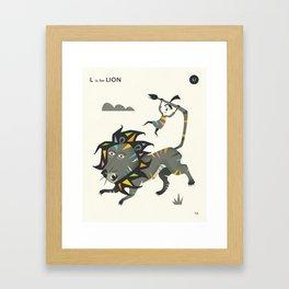 L is for LION Framed Art Print
