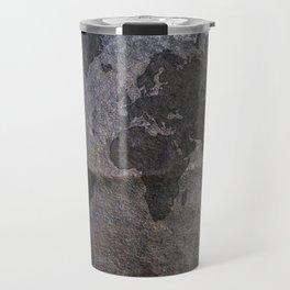 Gray metal - Organic World Map Series Travel Mug