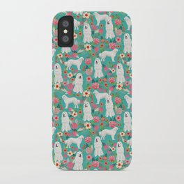 Great Pyrenees florals pattern dog breed must have dog lover gifts iPhone Case