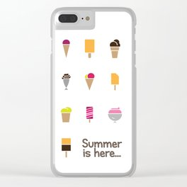 Summer Ice Creams Clear iPhone Case