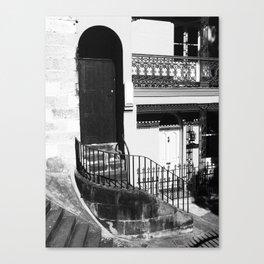 04 Black & White Door Canvas Print