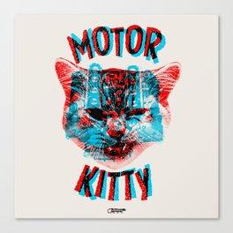 Motor Kitty Canvas Print