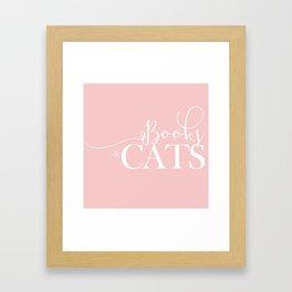 Books And Cats V2 Framed Art Print