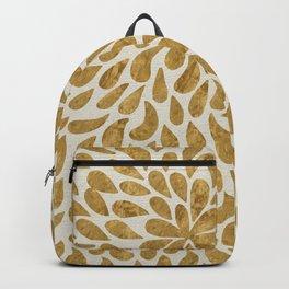 Golden Texture Design Backpack
