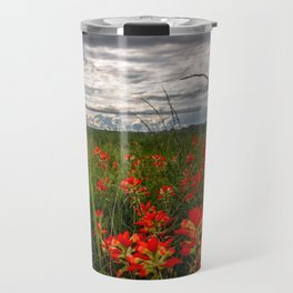 Brighten the Day - Indian Paintbrush Wildflowers in Eastern Oklahoma Travel Mug
