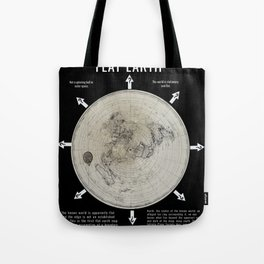 Infinite Plane Society MAP OF THE KNOWN FLAT EARTH Tote Bag