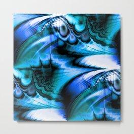Organic Thought (cerulean azure) Metal Print