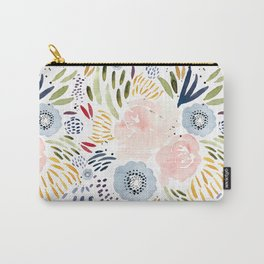 Watercolor Florals Carry-All Pouch