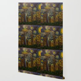 Dedication to Van Gogh: Seattle Starry Night Wallpaper