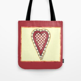 My Checkered Heart Tote Bag