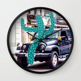 Cactus meets NYC 032 Wall Clock