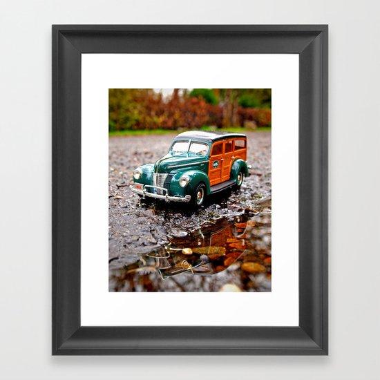 Roadside Woody Framed Art Print