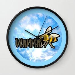 WANNA BEE Wall Clock