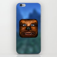 chewbacca iPhone & iPod Skins featuring Chewbacca by Michael Flarup