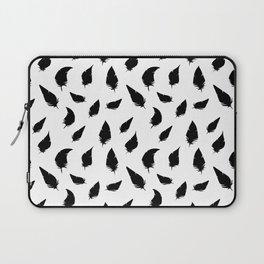 Feather pattern black Laptop Sleeve