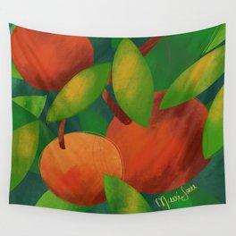 Tangerine Love Wall Tapestry