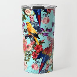 Floral and Birds XI Travel Mug