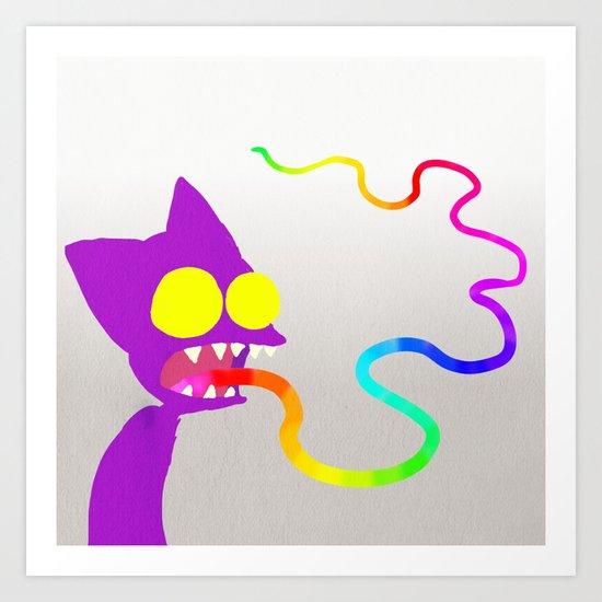 Rainbow Tounge Art Print