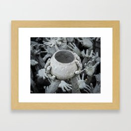 The White Temple - Thailand - 009 Framed Art Print