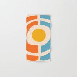 Mid Century Modern Solar Flares Pattern 24 Hand & Bath Towel
