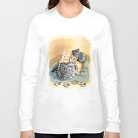kittens Long Sleeve T-shirts featuring Kittens by Michelle Behar