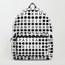 Thank you in different languages Backpack