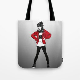 Red Sweater - B&W Variant  Tote Bag
