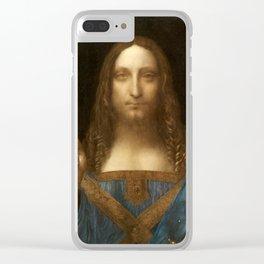 Salvator Mundi by Leonardo da Vinci Clear iPhone Case