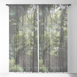 Hidden Jungle River Sheer Curtain
