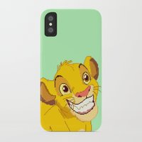 simba iPhone & iPod Cases featuring Simba Pixel Art by Luxatr